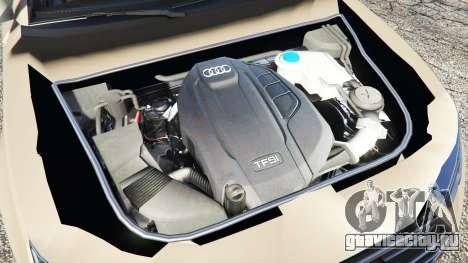 Audi A4 2017 для GTA 5 вид сзади справа