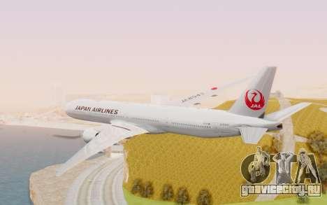 Boeing 777-300ER Japan Airlines v2 для GTA San Andreas вид справа