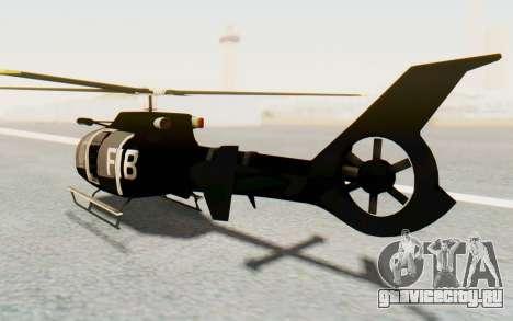 GTA 5 Maibatsu Frogger FIB для GTA San Andreas вид сзади слева