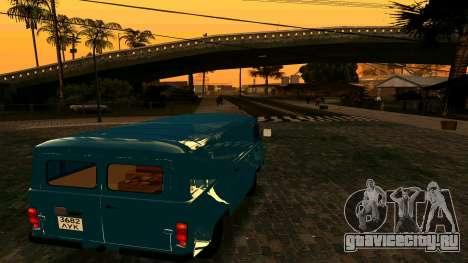 УАЗ-452 для GTA San Andreas вид сзади слева