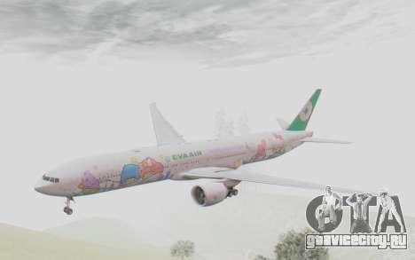 Boeing 777-300ER Eva Air v2 для GTA San Andreas