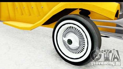Unique V16 Fordor Taxi для GTA San Andreas вид сзади