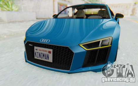 Audi R8 V10 2017 v2.0 для GTA San Andreas вид изнутри