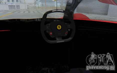 Ferrari F80 Concept 2015 Beta для GTA San Andreas вид изнутри