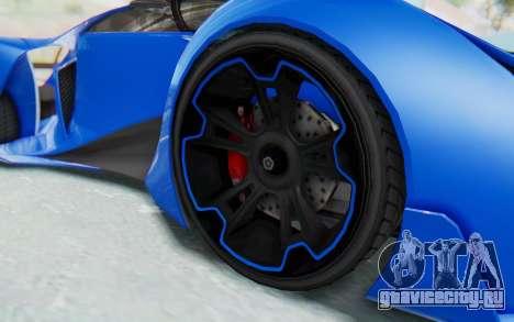 GTA 5 Grotti Prototipo v1 для GTA San Andreas вид сзади