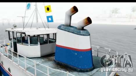 GTA 5 Buckingham Tug Boat v1 IVF для GTA San Andreas вид сзади