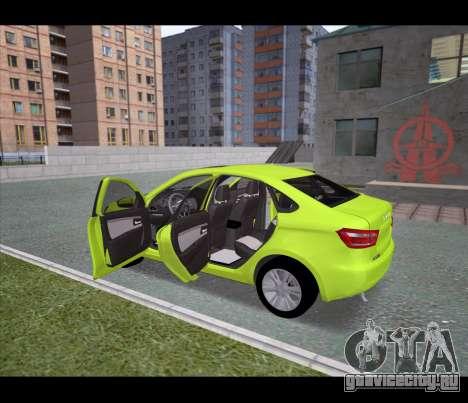 Lada Vesta для GTA San Andreas вид сзади слева