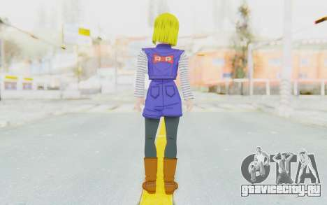 Dragon Ball Xenoverse Android 18 Jacket для GTA San Andreas третий скриншот