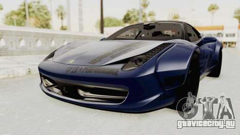 Ferrari 458 VPM Crew для GTA San Andreas вид справа