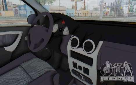 Dacia Logan Facelift Ambulanta для GTA San Andreas вид изнутри