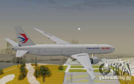 Boeing 777-300ER China Eastern Airlines для GTA San Andreas вид справа