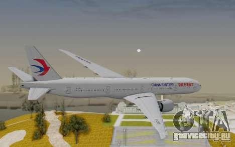 Boeing 777-300ER China Eastern Airlines для GTA San Andreas вид справа