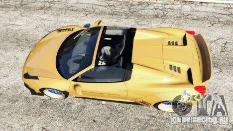 Ferrari 458 Spider [Liberty Walk] для GTA 5 вид сзади