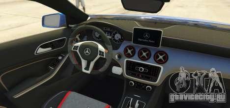 Mercedes-Benz A45 AMG 2017 для GTA 5 вид сзади слева