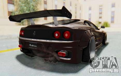 Ferrari 360 Modena Liberty Walk LB Perfomance v1 для GTA San Andreas вид справа