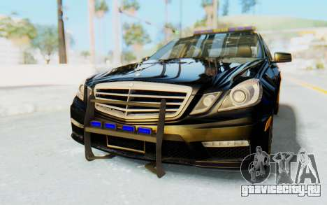 Mercedes-Benz E63 German Police Blue для GTA San Andreas
