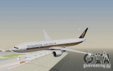 Boeing 777-300ER Singapore Airlines v1 для GTA San Andreas
