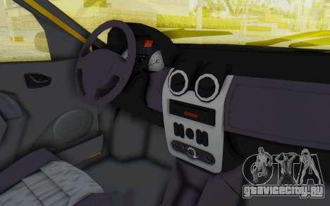 Dacia Logan Taxi для GTA San Andreas вид изнутри