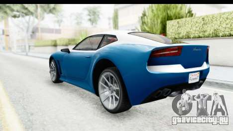 GTA 5 Lampadati Furore GT SA Lights для GTA San Andreas вид слева