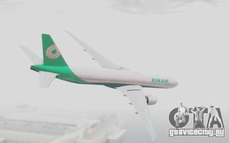 Boeing 777-300ER Eva Air v3 для GTA San Andreas вид слева