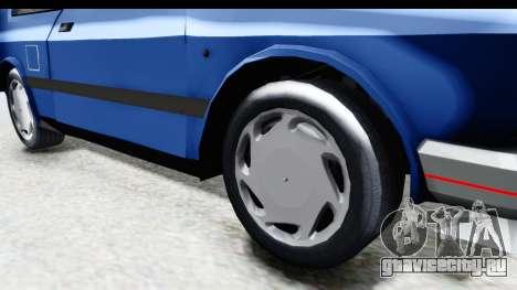 Zastava Yugo Koral UK для GTA San Andreas вид сзади