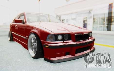 BMW M3 E36 2.5 TDS для GTA San Andreas вид сзади