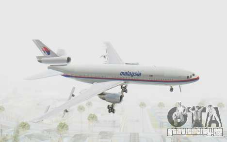 DC-10-30 Malaysia Airlines (Old Livery) для GTA San Andreas