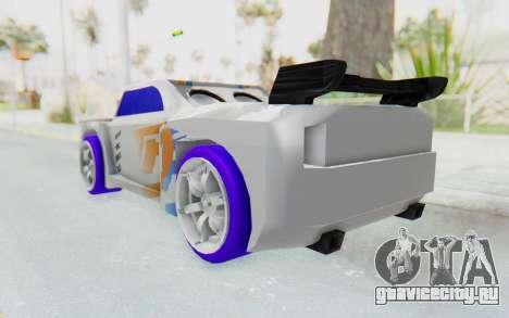 Hot Wheels AcceleRacers 3 для GTA San Andreas вид сзади слева
