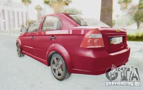 Chevrolet Aveo 2007 для GTA San Andreas вид сзади слева