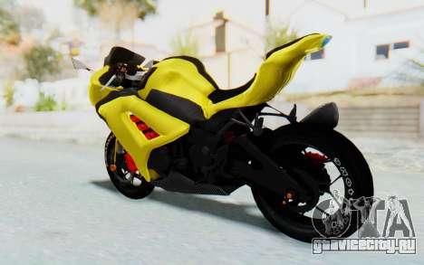 Kawasaki Ninja 250 Abs Streetrace v2 для GTA San Andreas вид слева