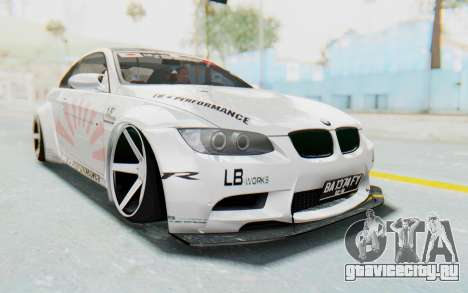 BMW M3 E92 Liberty Walk LB Performance для GTA San Andreas вид справа