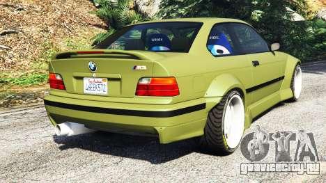 BMW M3 (E36) Street Custom v1.1 для GTA 5 вид сзади слева