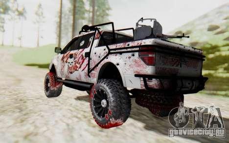 Ford F-150 ROAD Zombie для GTA San Andreas вид слева