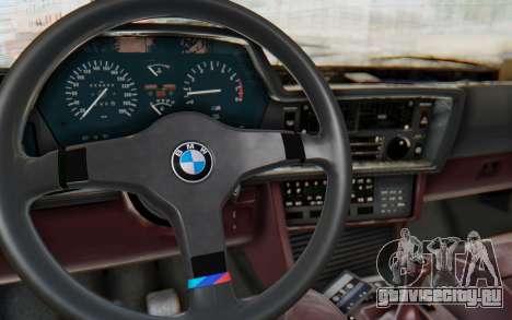 BMW M635 CSi (E24) 1984 IVF PJ1 для GTA San Andreas вид изнутри