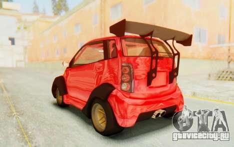 GTA 5 Benefactor Panto Custom для GTA San Andreas вид справа