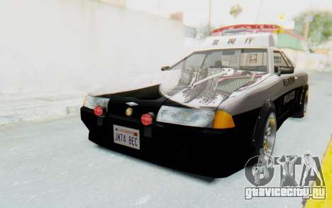 Elegy Japanese Police для GTA San Andreas вид сзади слева