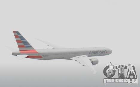 Boeing 777-300ER American Airlines N727AN для GTA San Andreas вид справа