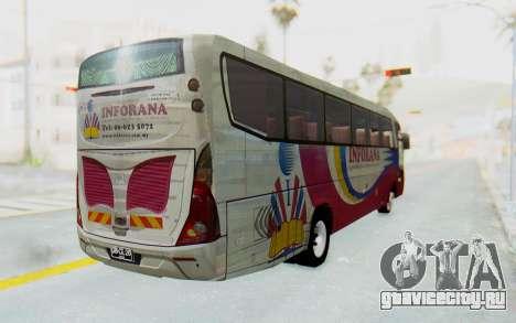 Marcopolo Inforana Bus для GTA San Andreas вид сзади слева