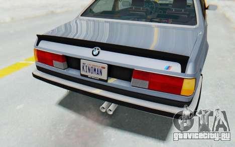 BMW M635 CSi (E24) 1984 IVF PJ1 для GTA San Andreas вид снизу