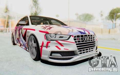Audi S4 Avant Yurippe Angel Beats Itasha для GTA San Andreas вид сзади