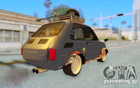 Fiat 126 для GTA San Andreas вид сзади слева