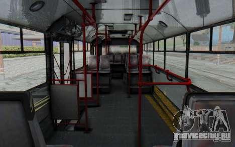 Pylife Bus для GTA San Andreas вид изнутри
