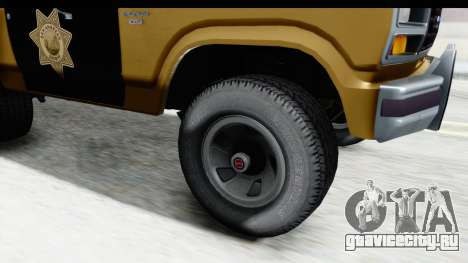 Ford Bronco 1982 Police IVF для GTA San Andreas вид сзади