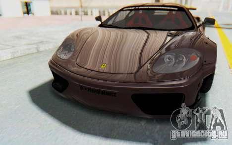 Ferrari 360 Modena Liberty Walk LB Perfomance v1 для GTA San Andreas салон