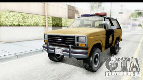 Ford Bronco 1982 Police IVF для GTA San Andreas