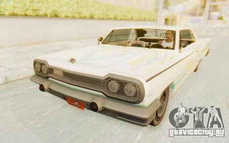 GTA 5 Declasse Voodoo Alternative v1 для GTA San Andreas вид снизу