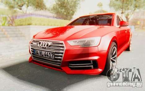 Audi A4 2017 IVF для GTA San Andreas вид сзади слева
