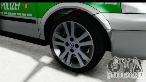 Opel Astra G Variant Polizei Bayern для GTA San Andreas вид сзади
