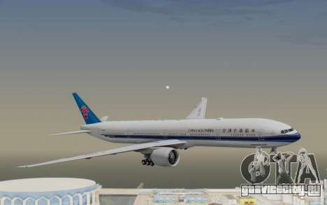 Boeing 777-300ER China Southern Airlines для GTA San Andreas вид сзади слева