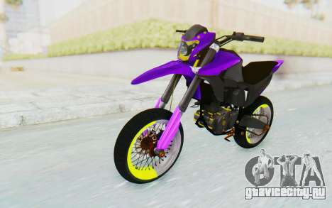 Honda NXR 160 Bros Supermoto Elite для GTA San Andreas
